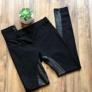 Victoria's Secret Leggings, Faux Leather Inseam, S